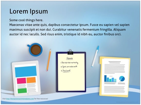 facebook powerpoint template - free!, Modern powerpoint