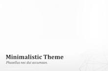 Minimalistic PowerPoint Template - Minimalistic