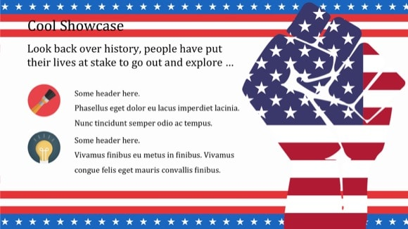 Patriotic PowerPoint Template 4 - Most Popular 2019