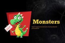 Cute Monsters PowerPoint Template - Cute Monsters