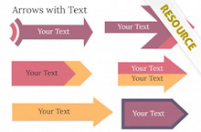 PowerPoint Arrows with Text - PowerPoint Arrows 2