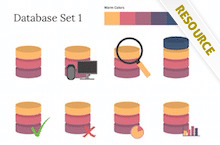 PowerPoint Database Shapes - Database Shapes