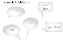 Speech Bubbles PowerPoint Template - Speech bubbles