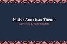 Native American PowerPoint Template FF - Native American