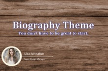 Biography PowerPoint Template - Biography
