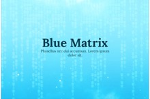 Blue Matrix PowerPoint Template - Blue Matrix