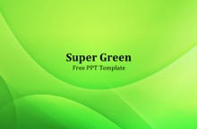 Bright Green PowerPoint Template - Bright Green
