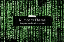 Matrix Numbers PowerPoint Template - Matrix Numbers