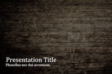 Wooden Wall PowerPoint Template - Wooden Wall