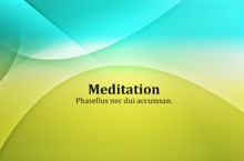 Meditation PowerPoint Template - Meditation