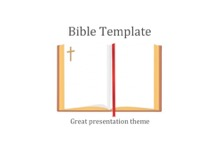 Holy Bible Book PowerPoint Template - FREE