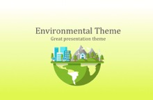 Environment PowerPoint Template - Green Environment