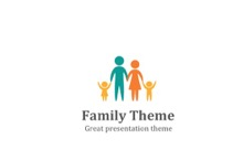 Family PowerPoint Template - Family