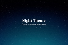 Night PowerPoint Template - Night