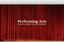 Performing Arts PowerPoint Template - Performing Arts