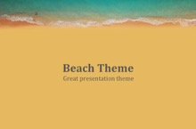 Summer Beach PowerPoint Template - Sunny Beach