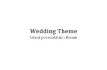 Wedding PowerPoint Template - FREE